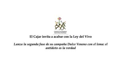 El Cajar invita a acabar con la Ley del Vivo